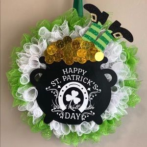 Large Handmade St. Patrick's Day Wreath